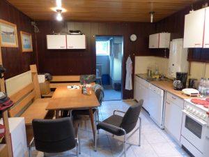 Küche und Aufenthaltsraum der Werkstatt